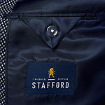 Stafford Light Blue Slub Classic Fit Sport Coat