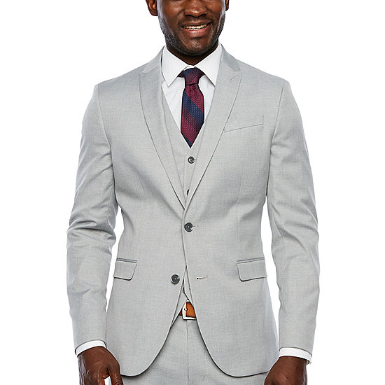 Jf Jferrar Light Gray Slim Fit Suit Jacket Jcpenney