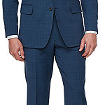Stafford-Slim Super Suit Plaid Slim Fit Stretch Suit Jacket