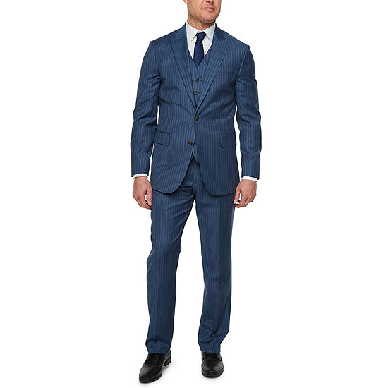 Stafford Super Suit Blue Stripe Classic Suit Separates