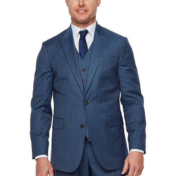 Stafford Striped Classic Fit Stretch Suit Jacket