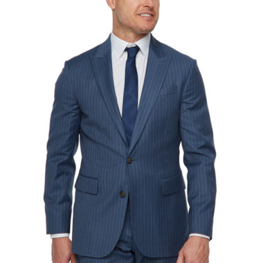 Stafford Striped Slim Fit Stretch Suit Jacket