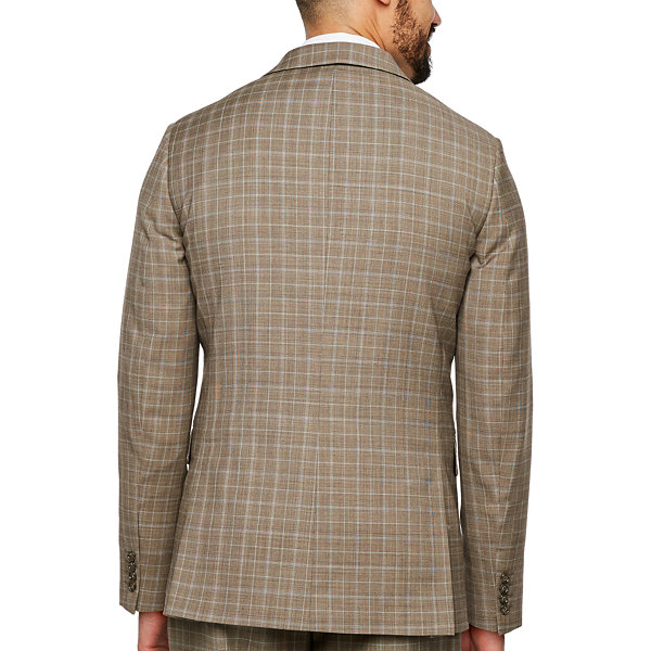 Stafford Plaid Classic Fit Stretch Suit Jacket