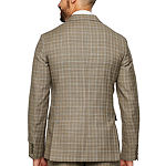 Stafford Mens Plaid Stretch Slim Fit Suit Jacket