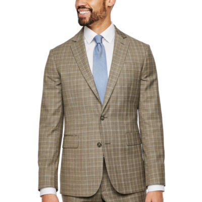 Stafford Plaid Slim Fit Stretch Suit Jacket