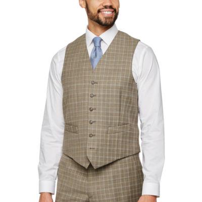 Stafford Plaid Classic Fit Stretch Suit Vest