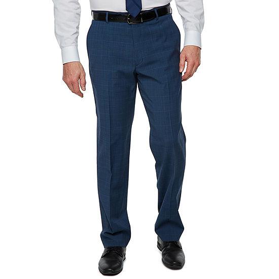 Stafford Super Suit Plaid Suit Pants