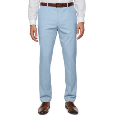 JF J.Ferrar Light Blue Super Slim Fit Stretch Suit Pants