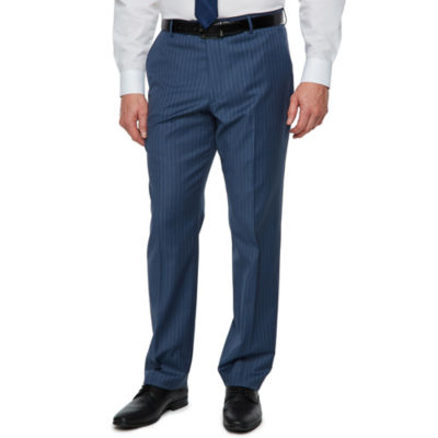 Stafford Striped Classic Fit Stretch Suit Pants