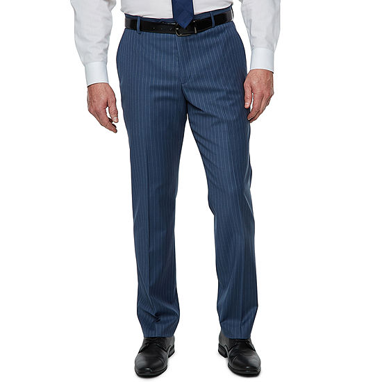 Stafford Striped Slim Fit Stretch Suit Pants