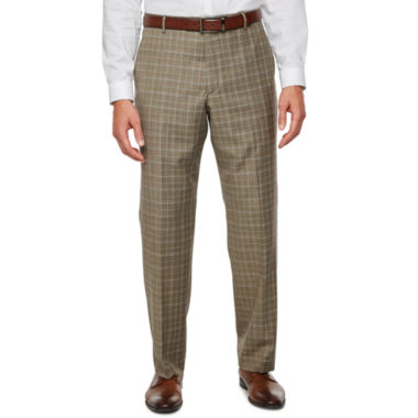 Stafford Plaid Classic Fit Stretch Suit Pants