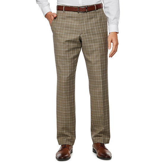 Stafford Plaid Slim Fit Stretch Suit Pants