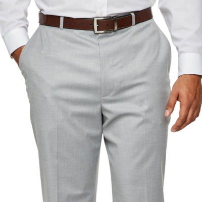 JF J.Ferrar Light Gray Suit Pants - Big & Tall