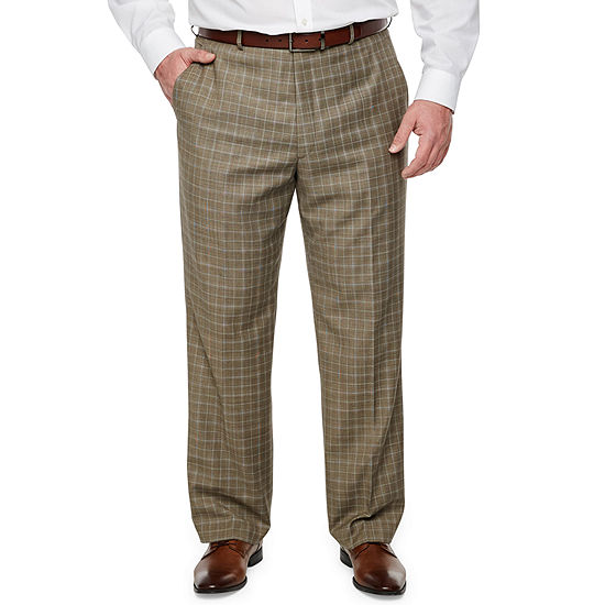 Stafford Plaid Classic Fit Stretch Suit Pants Big And Tall