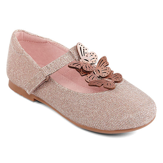 Christie & Jill Little Kid/Big Kid Girls Tandy Mary Jane Shoes Hook and Loop Closed Toe