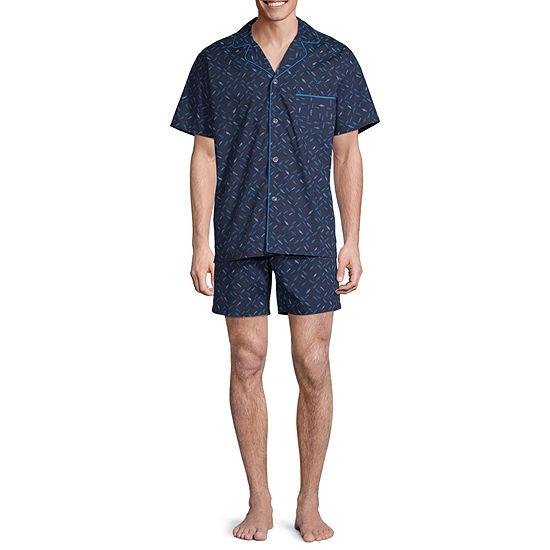 Stafford Notch Collar Pajama Set - Big and Tall