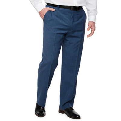 Stafford Super Suit Plaid Classic Fit Suit Pants - Big and Tall