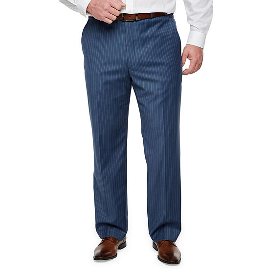 Stafford Striped Classic Fit Stretch Suit Pants - Big and Tall