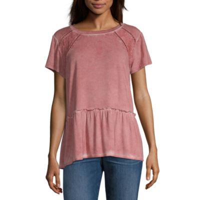 Artesia Womens Round Neck Short Sleeve Blouse