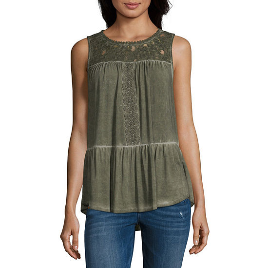 Artesia Womens Crew Neck Sleeveless Tank Top