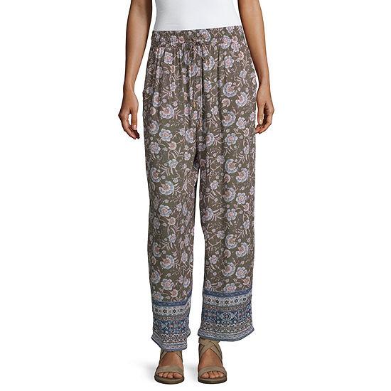 Artesia Womens Wide Leg Pull-On Pants