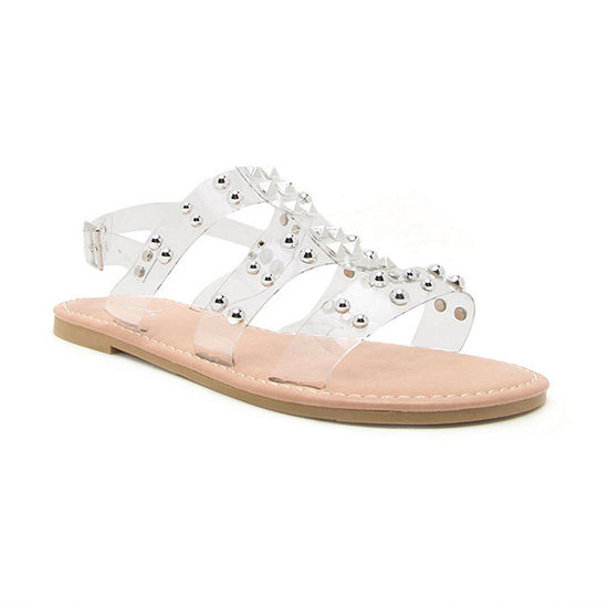 Qupid Womens Kazen-15 Slingback Strap Flat Sandals