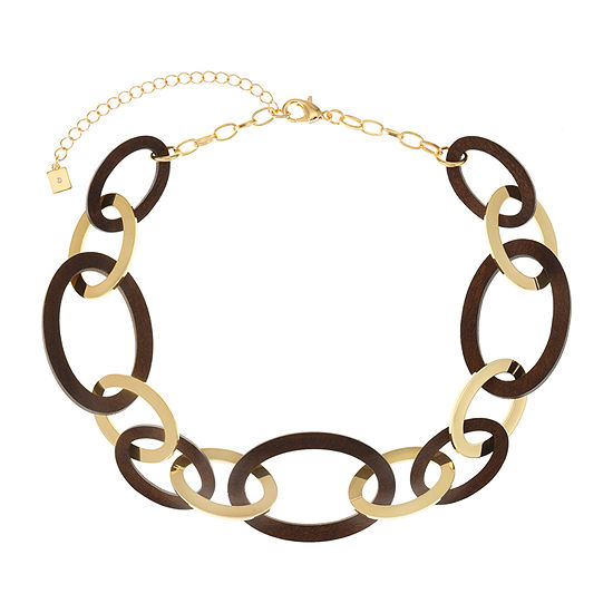 Worthington Wood 17 Inch Cable Collar Necklace