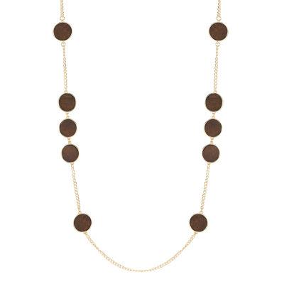 Worthington Wood 36 Inch Curb Strand Necklace