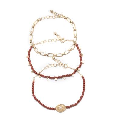 a.n.a Semi Precious 3-pc. Jasper Bracelet Set