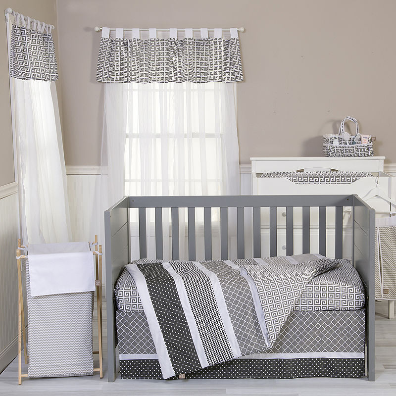 Trend Lab Ombr Gray 3-pc. Baby Bedding Set, Unisex, Gray|white