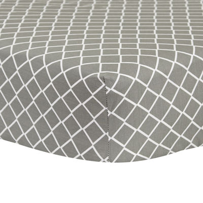Trend Lab® Gray Diamond Crib Sheet