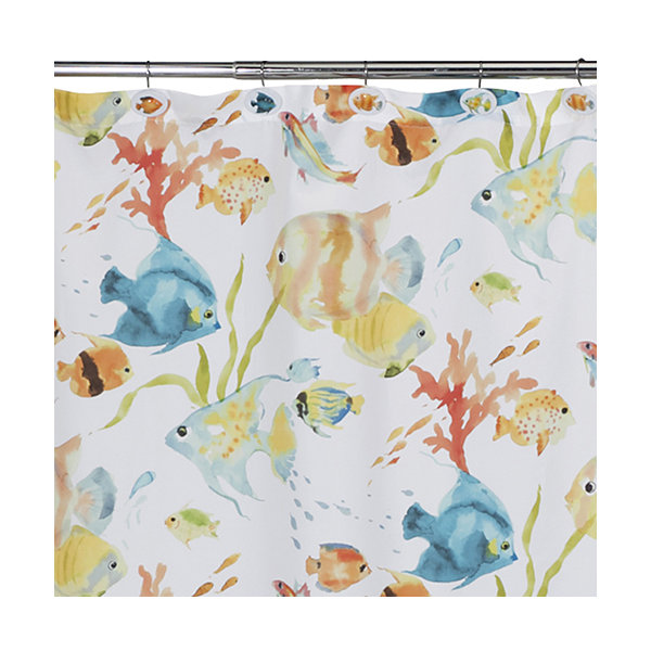Creative Bath Rainbow Fish Shower Curtain