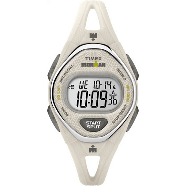 Timex Ironman Sleek 50 Womens White Strap Watch-Tw5m108009j