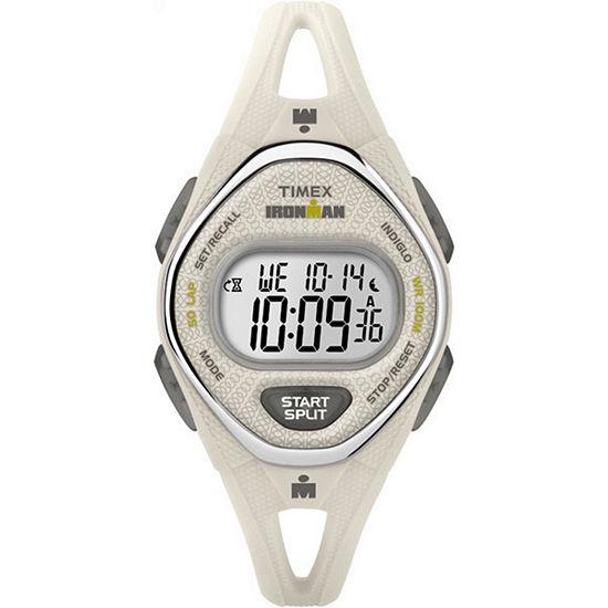 Timex Ironman Sleek 50 Womens Digital White Strap Watch-Tw5m108009j