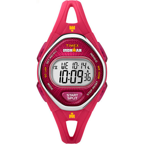 Timex Ironman Sleek 50 Womens Pink Strap Watch-Tw5m107009j