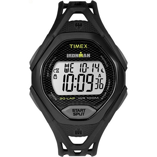 Timex Ironman Sleek 30 Mens Digital Black Strap Watch-Tw5m104009j