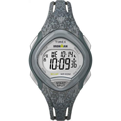 Timex Sleek 30 Womens Gray Strap Watch-Tw5m086009j