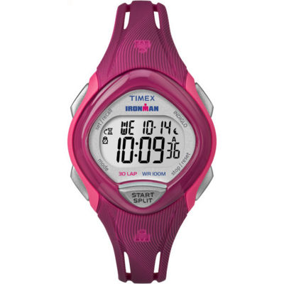 Timex Sleek 30 Womens Pink Strap Watch-Tw5m090009j