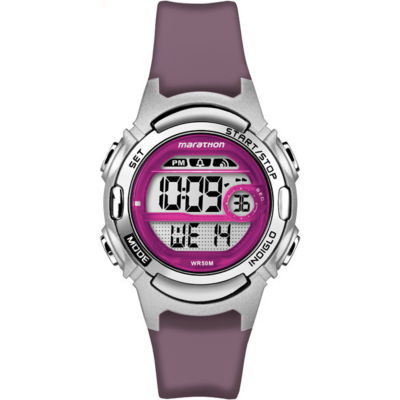 Marathon By Timex Womens Purple Strap Watch-Tw5m111009j