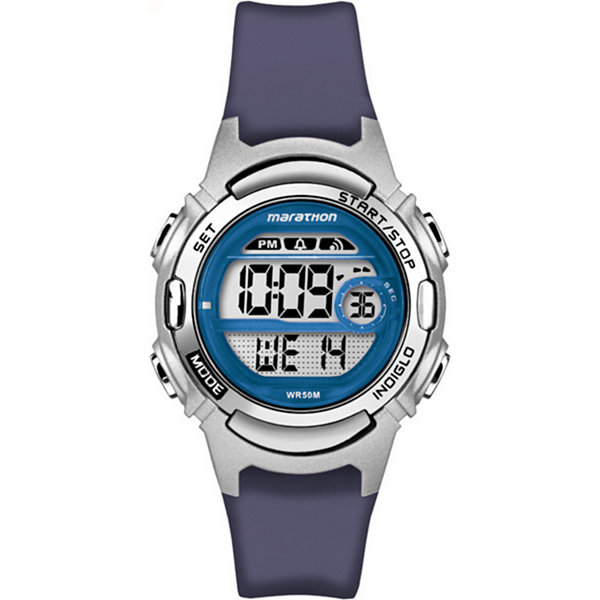 Marathon By Timex Womens Blue Strap Watch-Tw5m112009j
