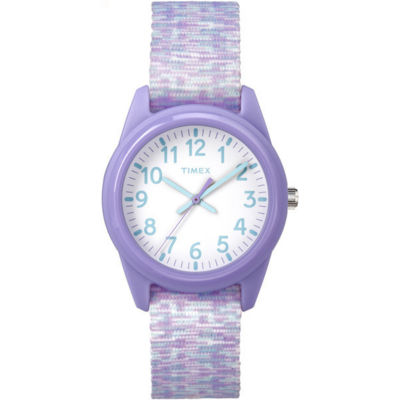 Timex Girls Purple Strap Watch-Tw7c122009j