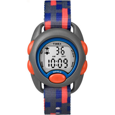 Timex Boys Gray Strap Watch-Tw7c129009j