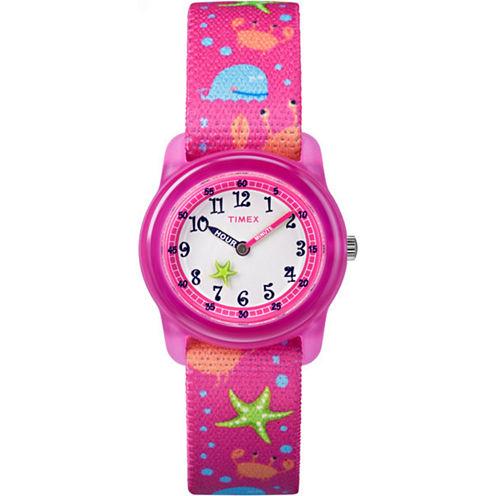 Timex Girls Pink Strap Watch-Tw7c136009j