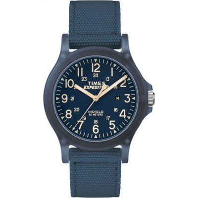Timex Expedition Acadia Mens Blue Strap Watch-Tw4b096009j