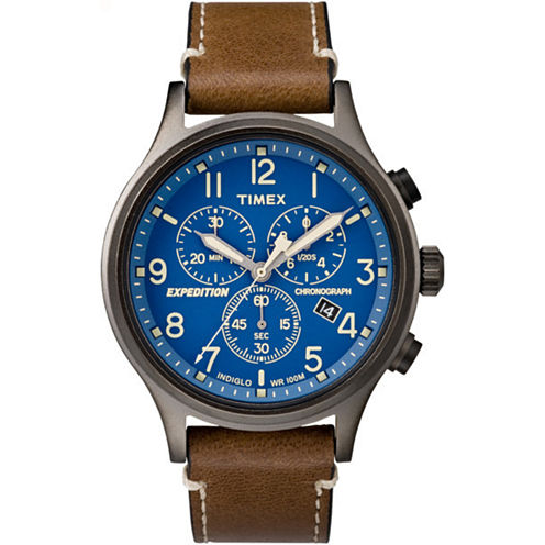 Timex Expedition Scout Mens Brown Strap Watch-Tw4b094009j