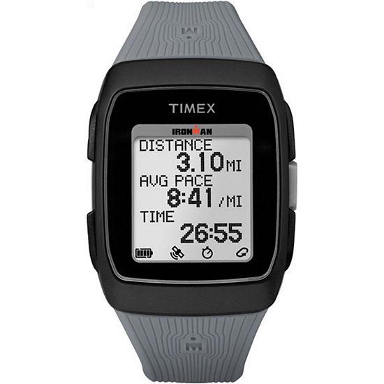 Timex Ironman Gps Unisex Gray Watch-TW5M11800F5