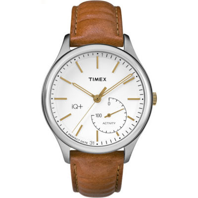 Timex IQ+ Move Brown Analog Smartwatch Activity Tracker-TW2P94700F5