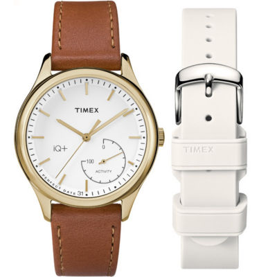 Timex IQ+ Move Womens Brown Smart Watch-TWG013600F5