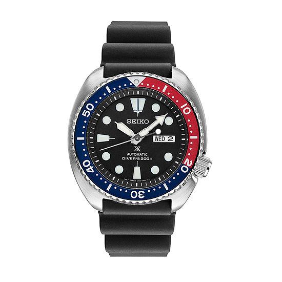 Seiko Dive Mens Black Automatic Strap Watch-Srp779