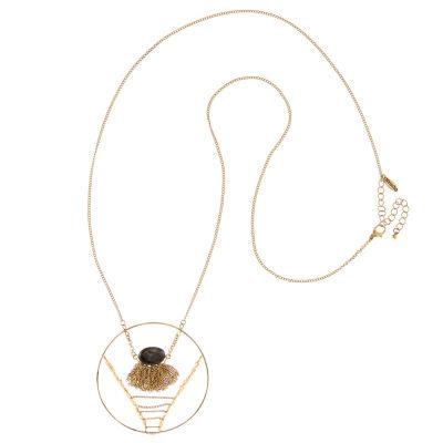 Natasha Accessories Womens Champagne Pendant Necklace